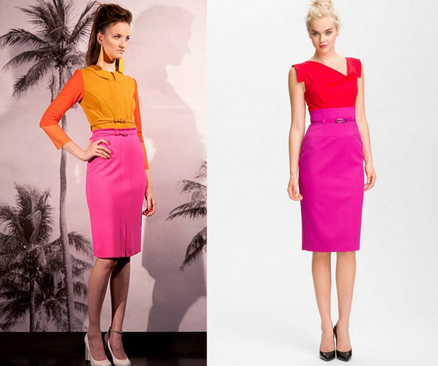 Woman wearing pencil skirt and blouses for office. Outfits by Style Advisor