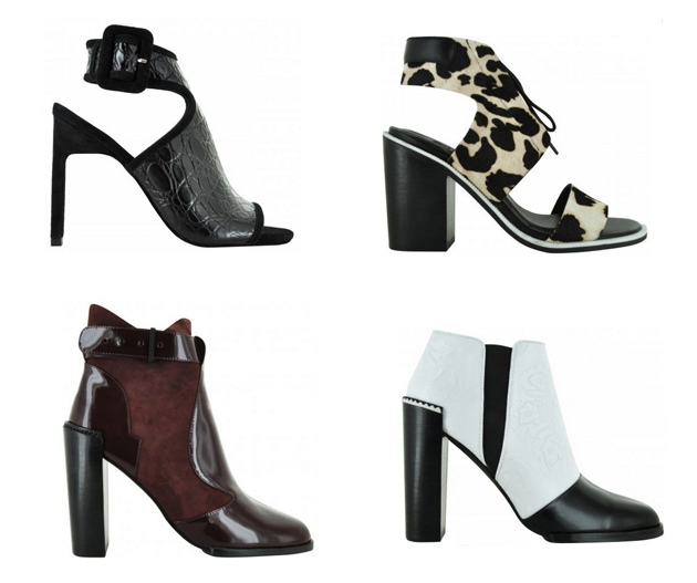 tow pairs of shoes with high heels from Senso, the australian brand.