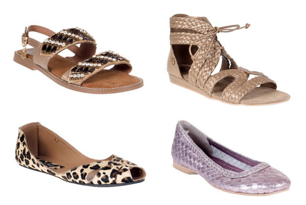 sandals in beige and animal print for this summer