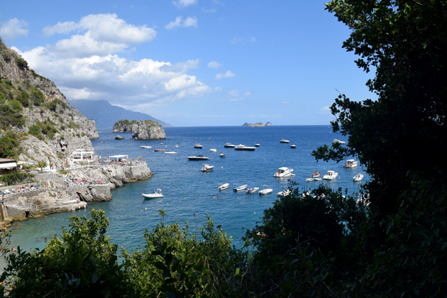 beach of the amalfi coast in Italy