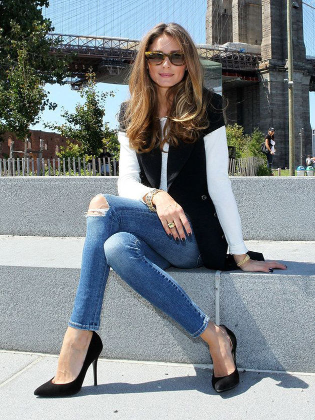Hair Style Jeans : Olivia Palermo style: her recipe for good-looking casual outfits