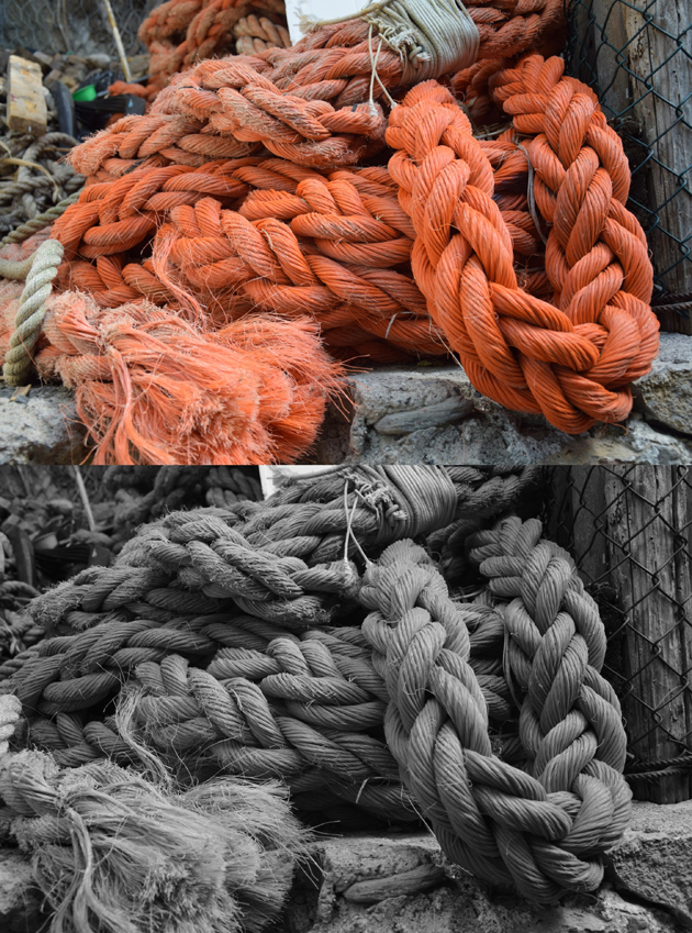 beautiful photo of a nautical knot of a boat from Italy