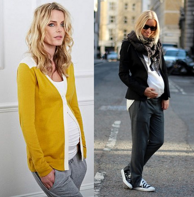 two women pregnant wearing converse and leggings in a sporty style. they are blonde and they look very good.