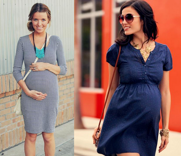 pregnant women in cute dresses and they are very stylish