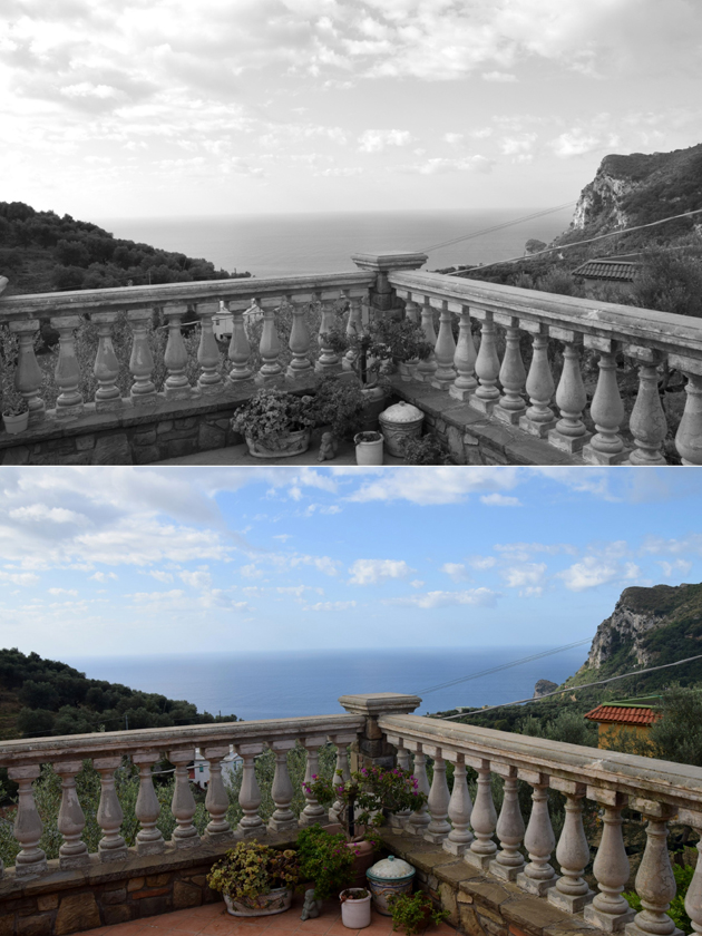 images from the coast of amalfi in sorrento