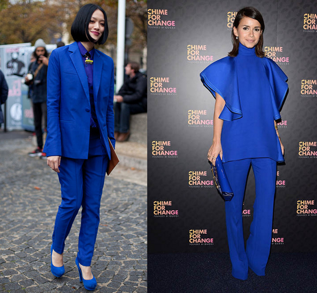 Miroslava Duma wearing blue suit.