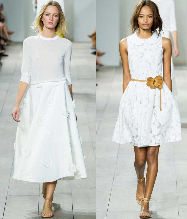 models wearing Michael Kors at NYFW in 2015