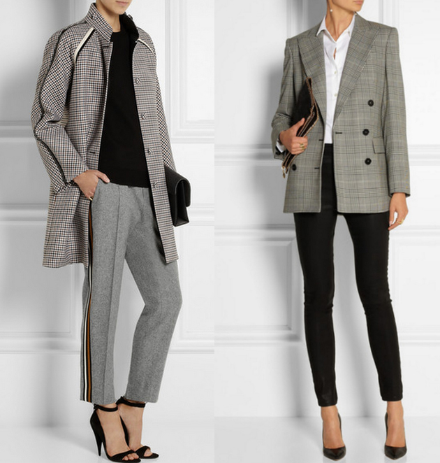 two women in luxury clothing for office. They wear Giambatistta Vali, Stella MCartney