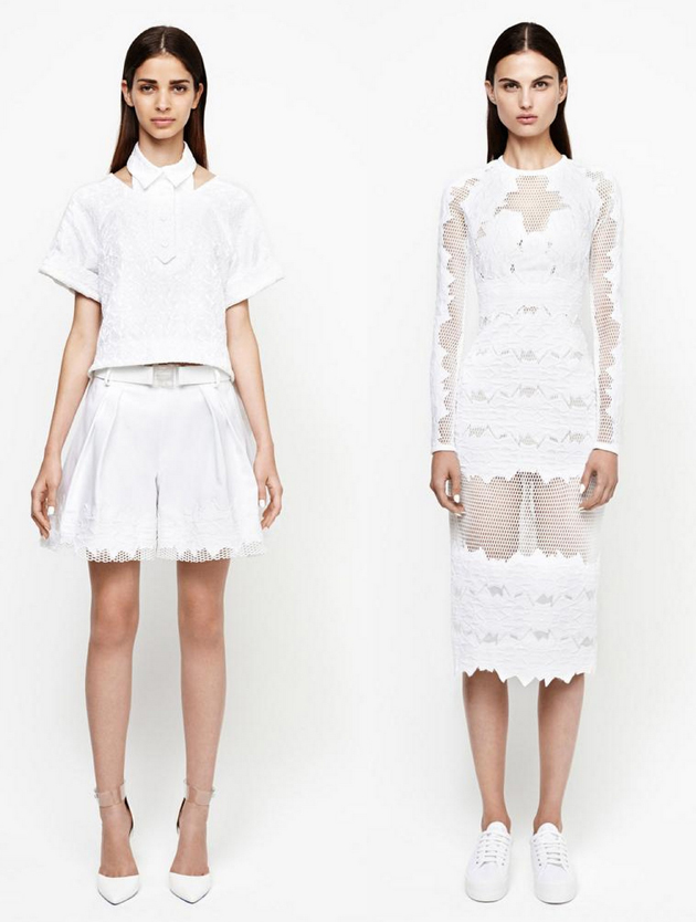 women in white-dress-for-office from nyfw 2015
