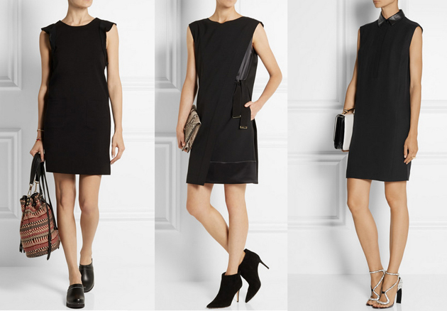 women wearing expensive Black dresses. They are from Gucci, Alberta Ferretti and Marc Jacobs.