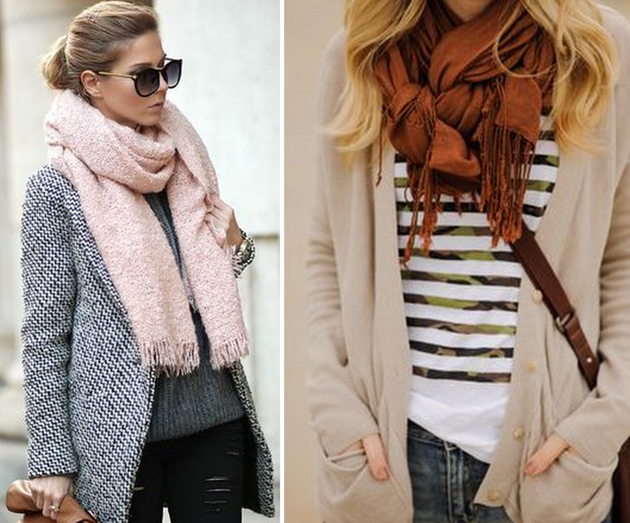 autumn fashion with scarf