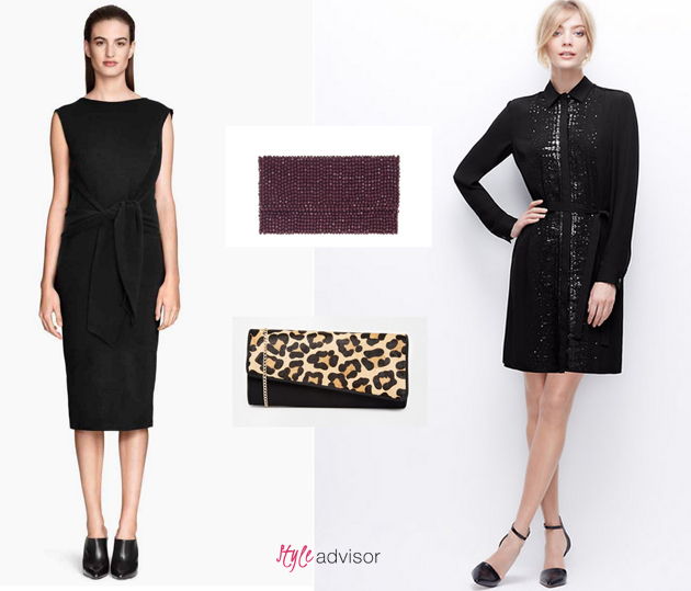 party-dresses HM and Ann Taylor and bags from Asos and Parfois