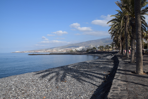 the beach Los Cristianos in Canary Island