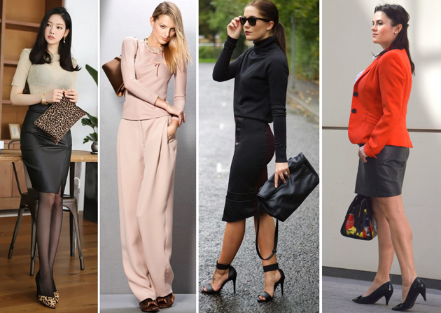 ladies dressed smart for office