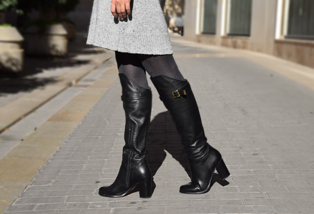 woman wearing high over the knee boots