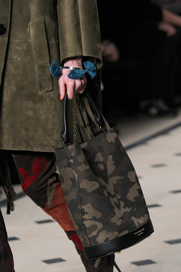 bucket bag in camo from Burberry