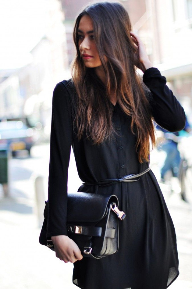 little-black-dress-and-long-hair