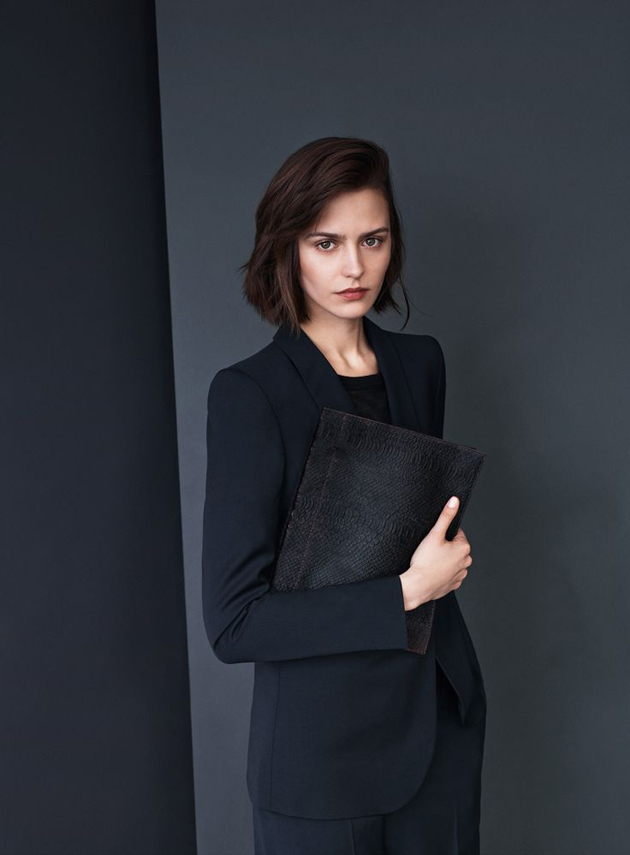 elegant office dressed lady