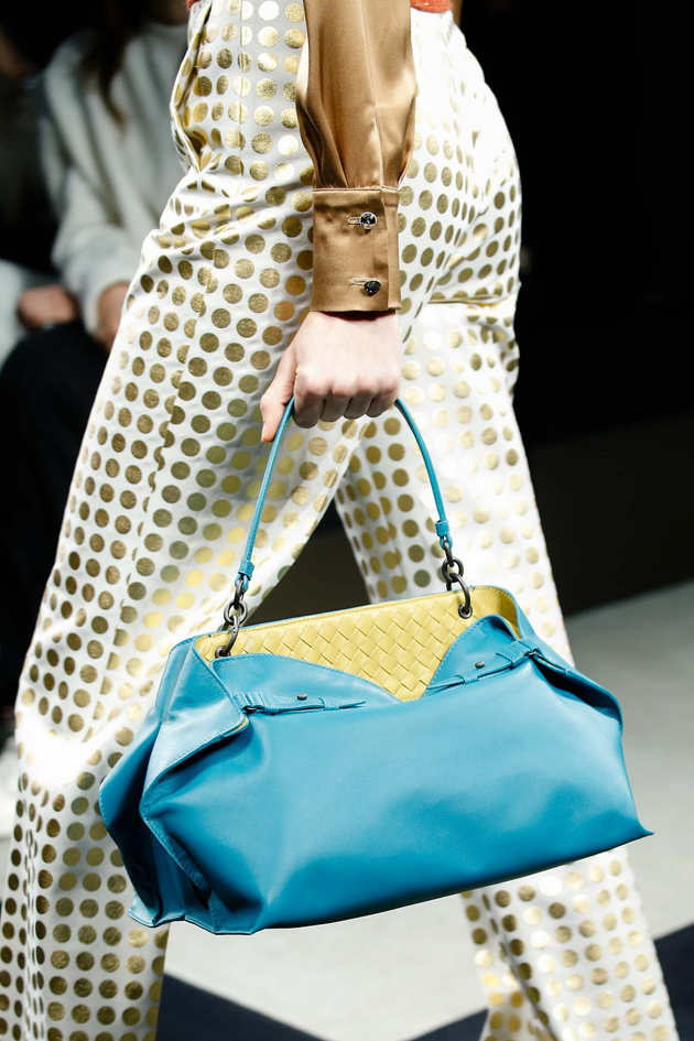 a bag in two colors from bottega veneta