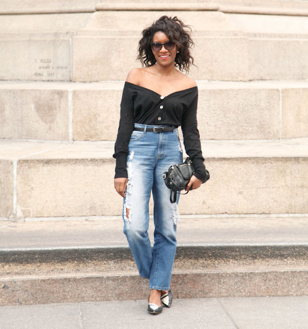 how to wear off the shoulders streetstyle
