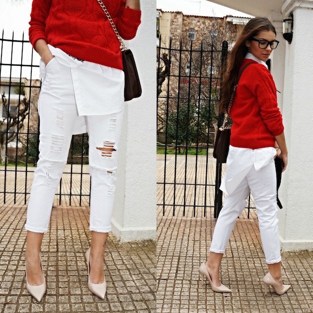 oanna andreia in white pants fashion blog