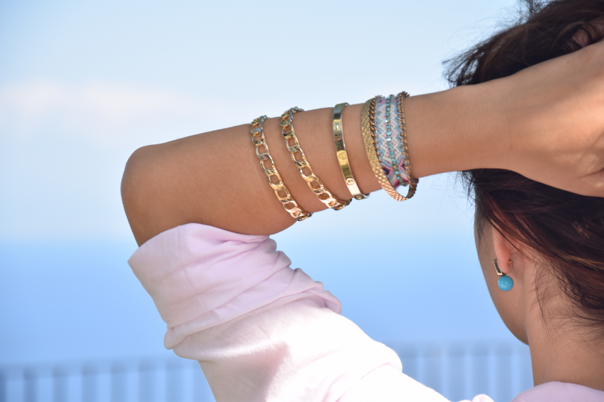 turquoise accessories for hippie summer outfit