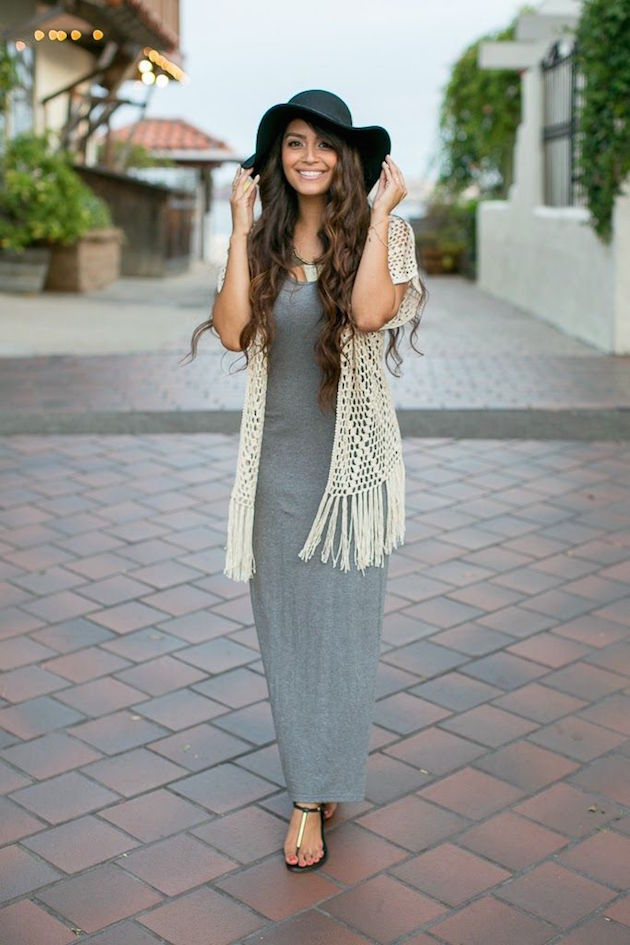 how to have boho style in maxi dress