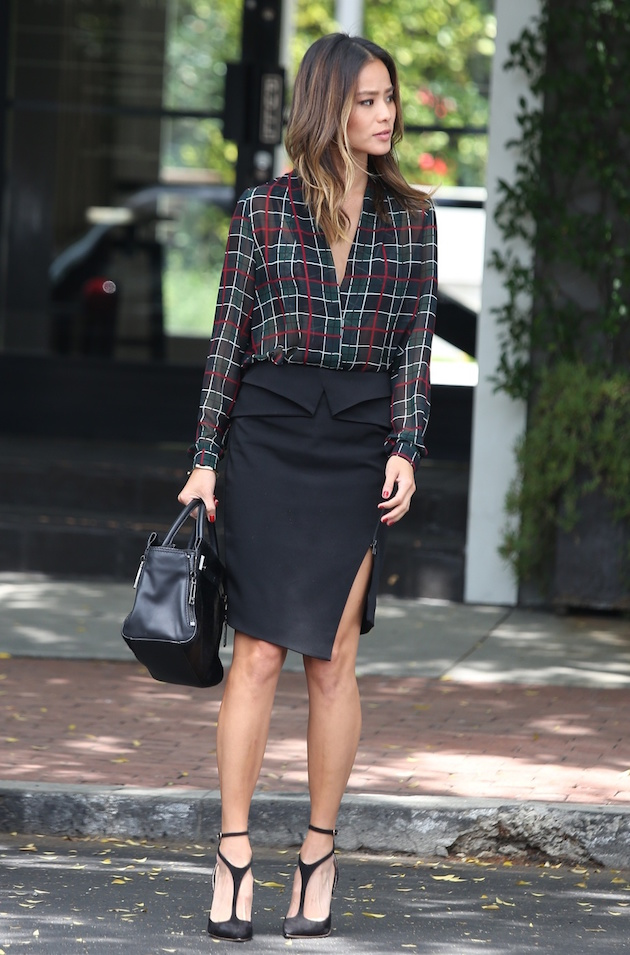 Jamie Chung in office look