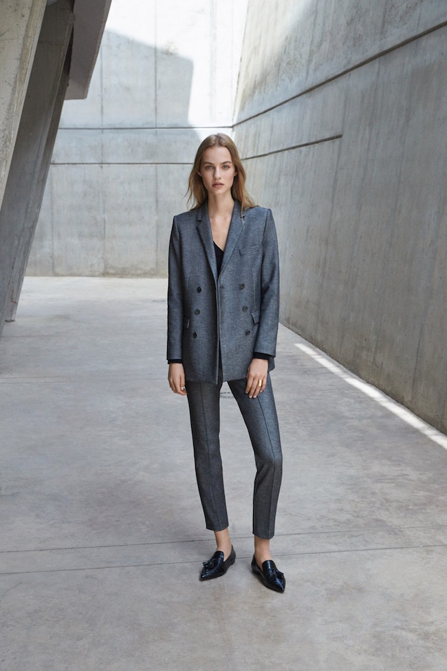 grey suit for office women