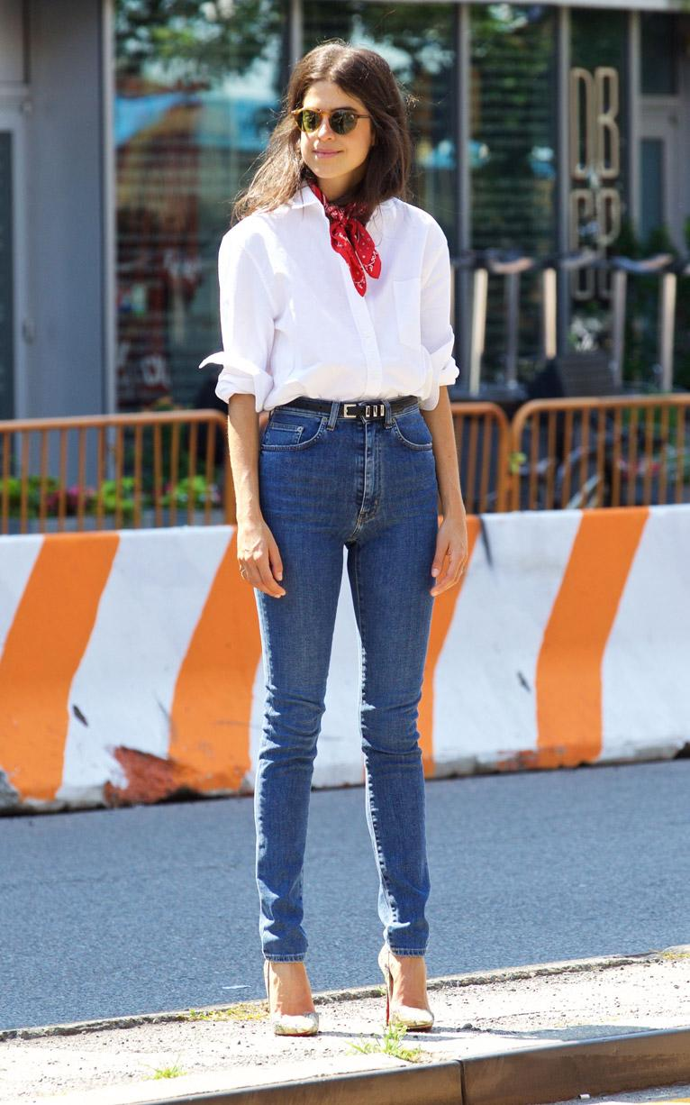 tues-leandra-white shirt and blue jeans