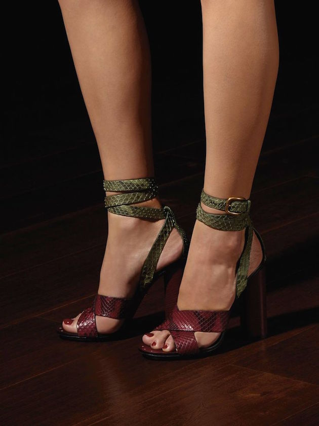 gucci sandals in python and burgundy