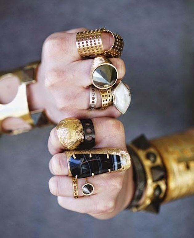 boho rings and style