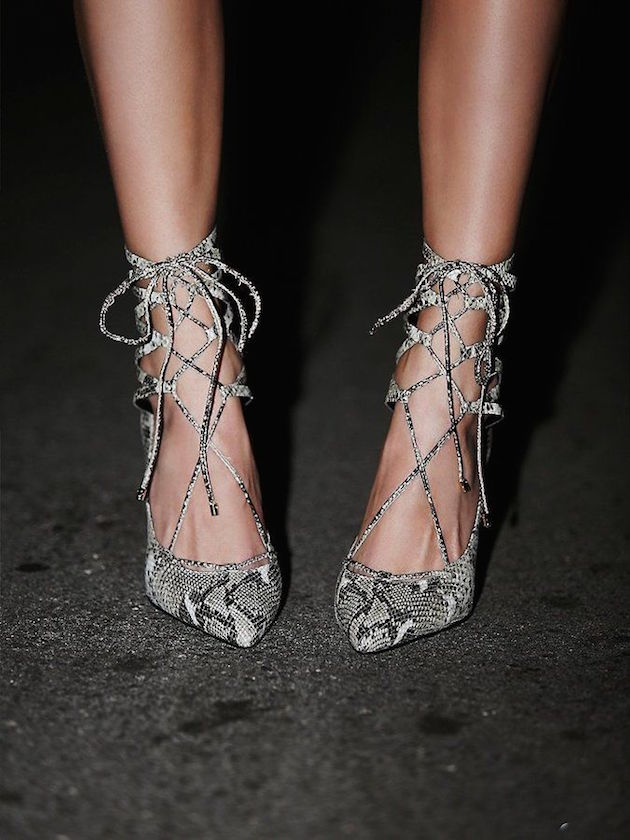 cool shoes in snake print from Gucci