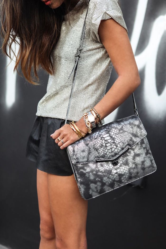 sexy lady wearing shorts and animal print bag for outfit for going out saturday night sexy