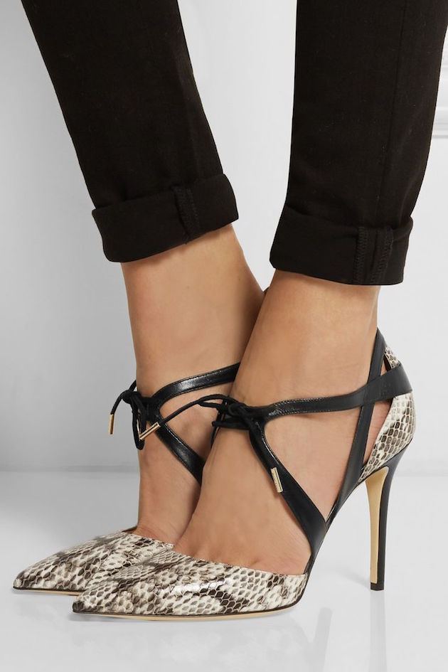 python shoes from Net-a-Porter