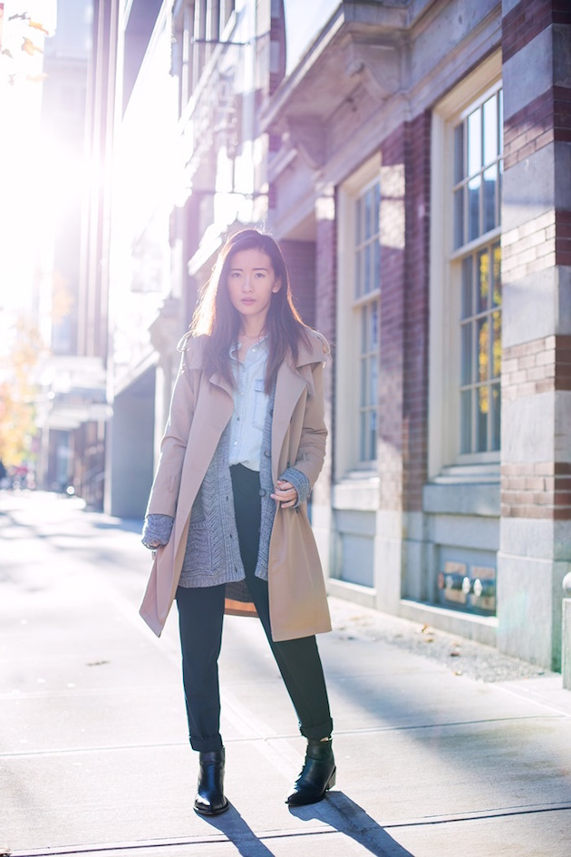 von-vogue-trench-coat-and-cardigan