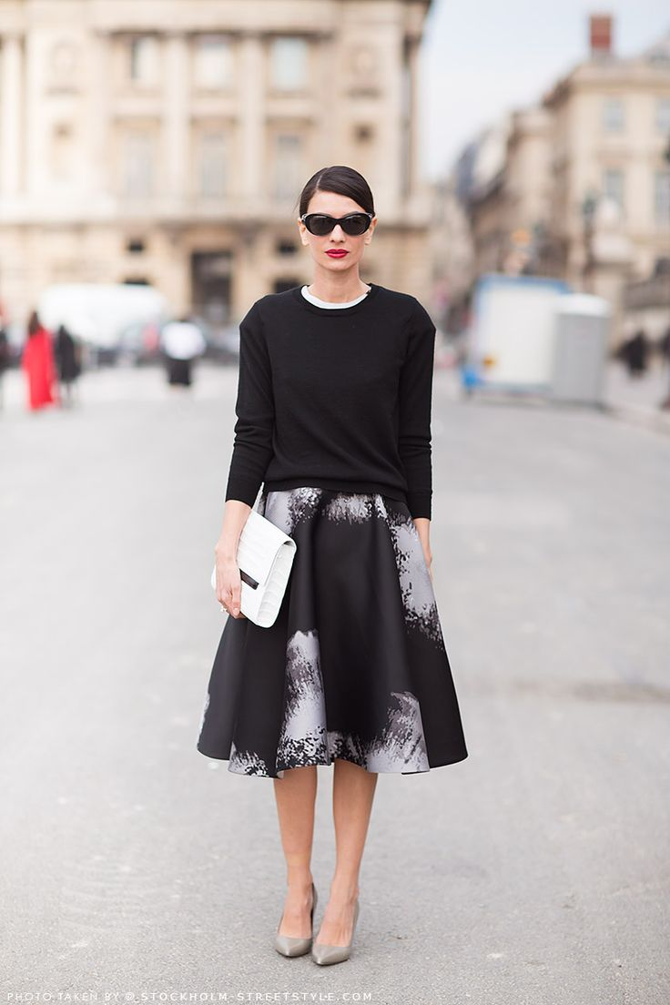 Business outfit with an A-line skirt