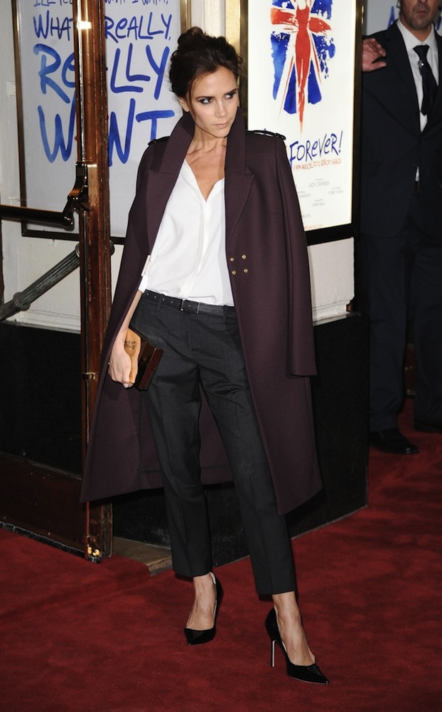 Victoria-Beckham-Woo Long Coat
