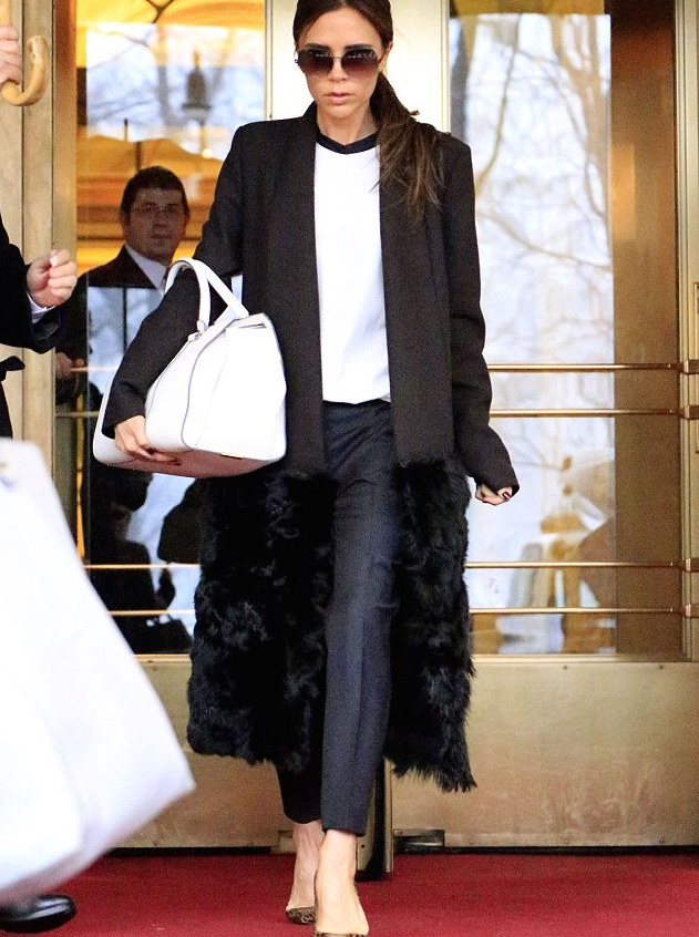 long wool coat by victoria beckham
