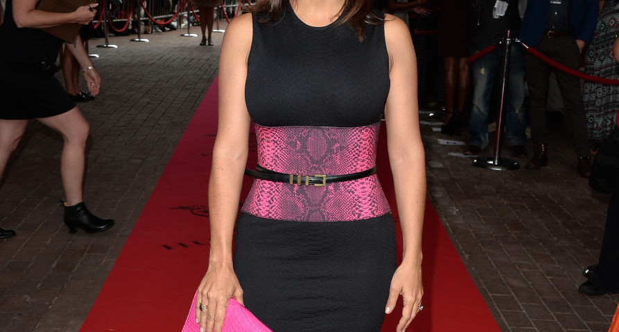salma hayek in a great black dress