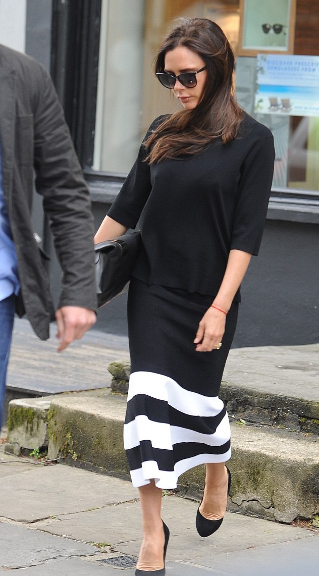 long black dress by victoria beckham