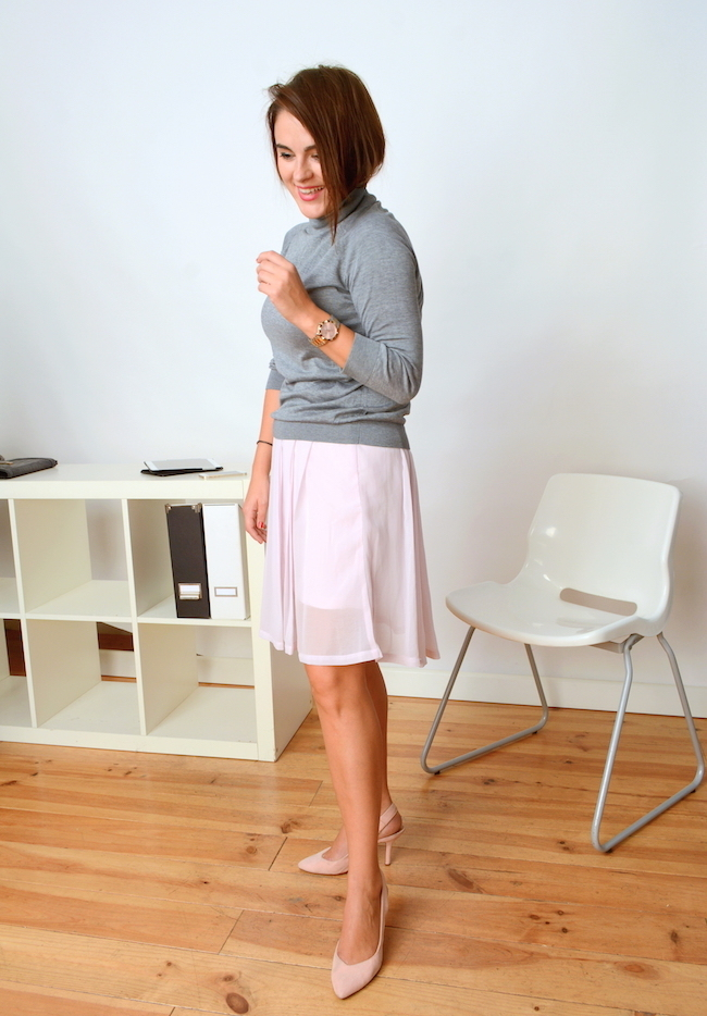 sweater and skirt combination for office
