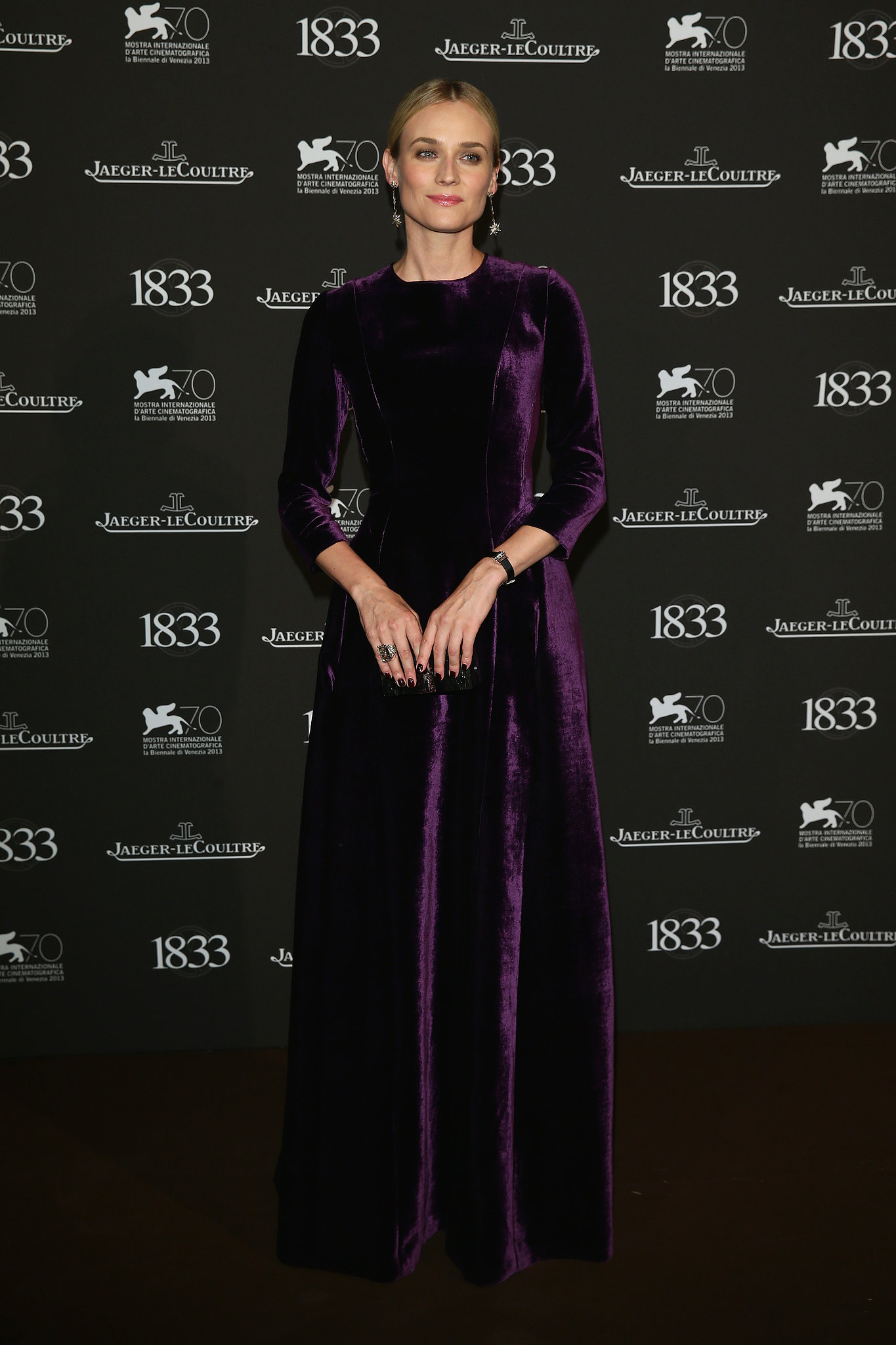 Diane-Kruger-wore-purple-velvet-dress-Jaeger-LeCoultre-gala