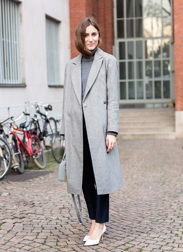beautiful grey coat for this fall