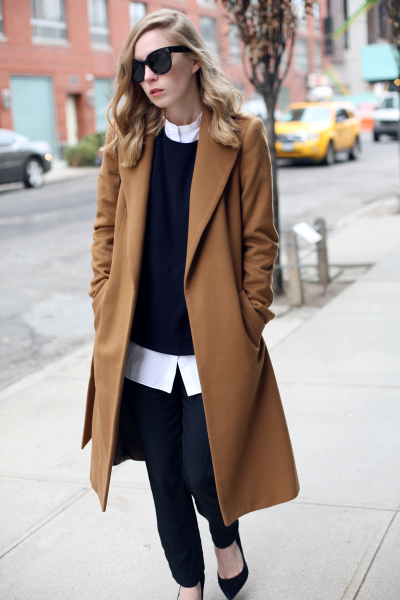 camel-coat to office