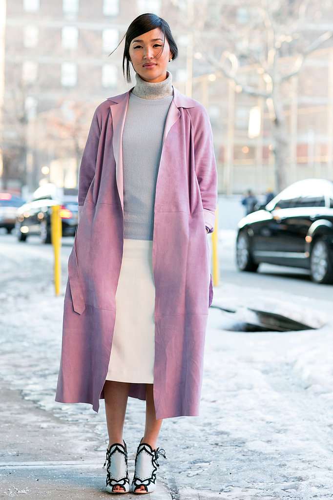 soft pink trench