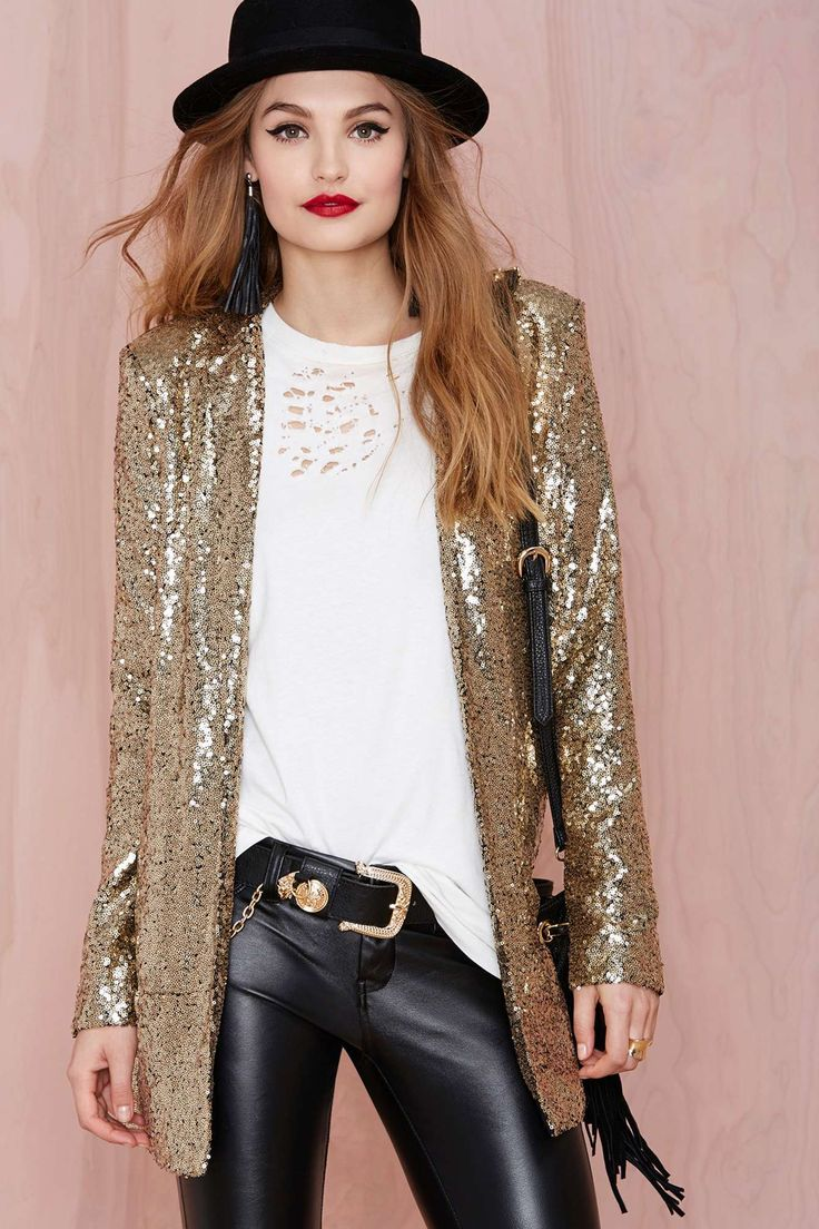 sequins blazer for party