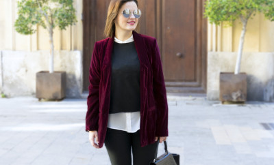 velvet blazer for workwear