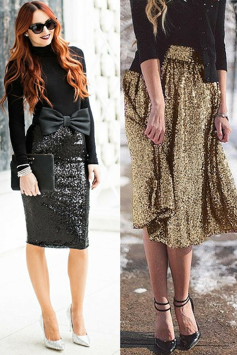 sequins for christmas party in style