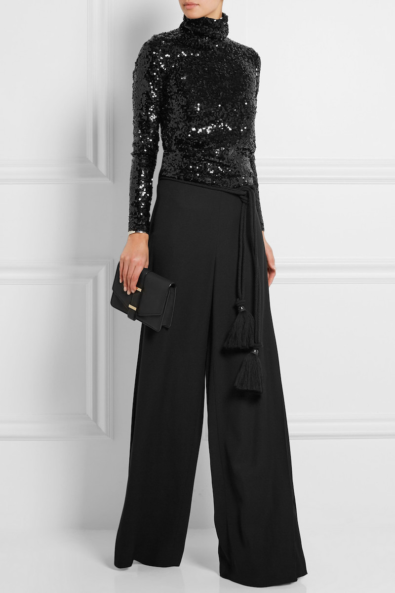 malene birger black sequin top